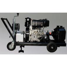 Грязевой самовсасывающий насос с четырехтактным бензиновым двигателем Grundfos Pomona PO 32 R