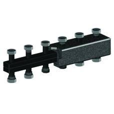 Распределительный коллектор Meibes из чёрной стали на 5 отопительных контура